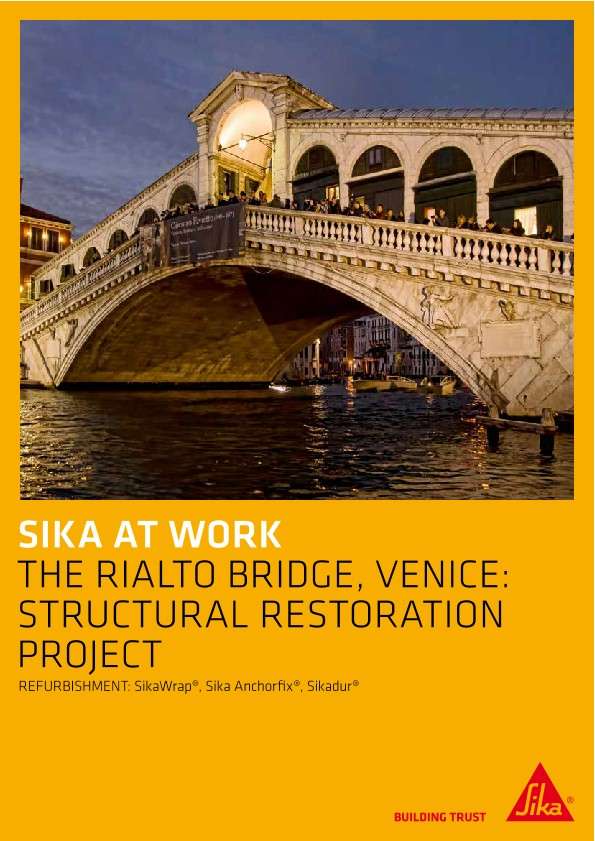 Structural Restoration of the Rialto Bridge in Venice